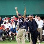 Peter Uihlein Sinks 18ft putt Walker Cup 2009