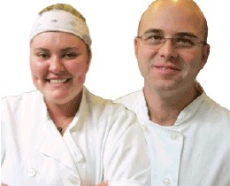 Bay Club Chefs Mary Towers and Andrew Kortright