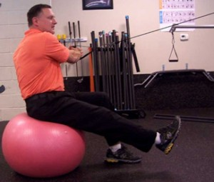 Dave Maloney One Leg Stability Golf Fitness Exercise