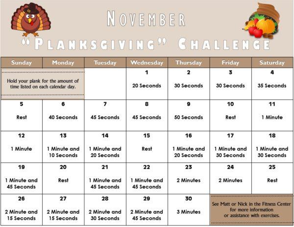 Planksgiving challenge